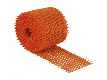 Jutový dekorační pásek - oranžová