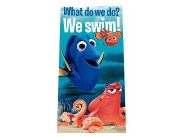 Osuška Hledá se Dory We swim 70x140 cm