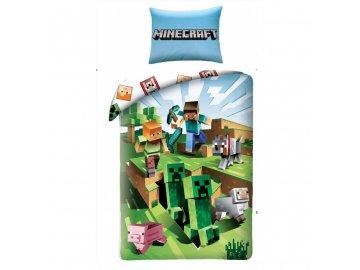 Povlečení Minecraft Farma 140x200, 70x90 cm