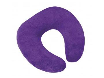 Polštářek cestovní podkova - fialová