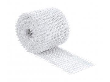 Jutový dekorační pásek - bílá