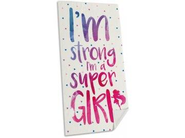Osuška Micro Super Girl 75x150 cm