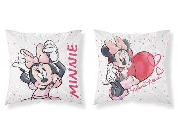 Povlak na polštářek Minnie white micro 40x40 cm