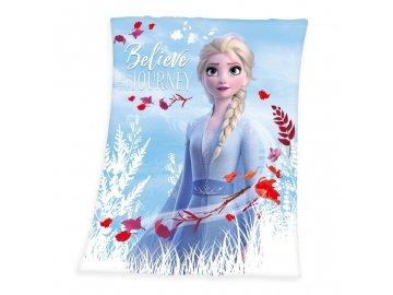 HERDING Fleece deka Ledové Království 2 Belive Polyester, 130/160 cm