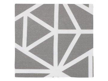 Povláček bavlněný - šedobílá geometrie