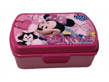EUROSWAN Box na svačinu Minnie hearts Plast, 16 x 12 x 5 cm