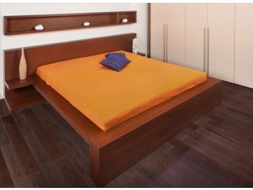 Jersey prostěradla - pomerančová 90x200 cm