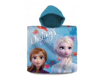 Pončo Ledové Království 2 Destiny Bavlna - Froté, 60x120 cm