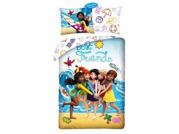Povlečení Lego Friends Beach  Bavlna, 140x200, 70x90 cm