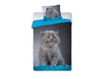 Povlečení Kotě modré 140x200, 70x90 cm