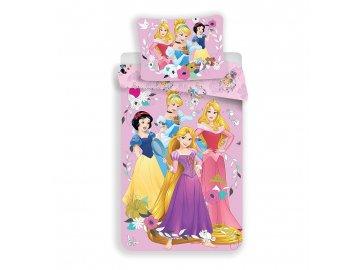 Povlečení Princess pink 02 Bavlna, 140x200, 70x90 cm