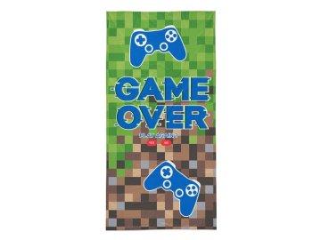 Osuška Game Over  Bavlna - Froté, 70x140 cm