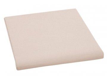 Plátěné prostěradlo plachta 150x230 cm - bílá káva
