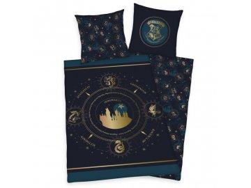 Povlečení Harry Potter Gold  Bavlna, 140x200, 70x90 cm