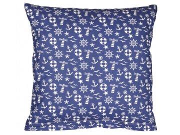 Povláček bavlněný - modrá kotva