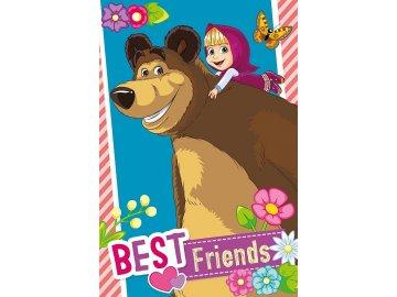 Dětský ručník Máša a medvěd přátelé  Bavlna - Froté, 60x40 cm