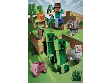 Fleece deka Minecraft Farma  Polyester, 130x170 cm