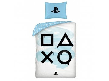 Povlečení Playstation White  Bavlna, 140x200, 70x90 cm
