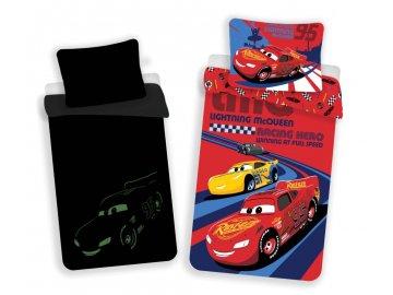 Povlečení Cars red 02 svítící Bavlna, 140x200, 70x90 cm