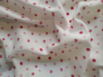 Látková plena s potiskem Kaňky růžové  Bavlna, 7070 cm