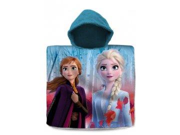 Pončo Ledové Království Anna a Elsa  Bavlna - Froté, 60x120 cm