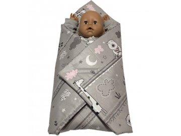 SDS Rychlozavinovačka pro panenky Zvířátka růžová Bavlna, výplň: Polyester, 1x 60x60 cm
