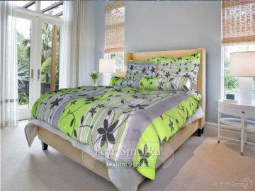 Bavlněné ložní povlečení - Liana zelená