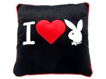 Polštářek Playboy I Heart Bunny black 35/35