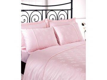 Sada francouzského povlečení - Damašek Issimo Home Luxus ELENORA (růžová)