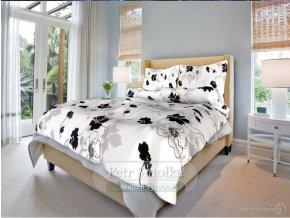 Bavlněné ložní povlečení - Tapeta černobílá