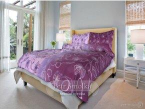 Bavlněné ložní povlečení - Nové stvoly fialové