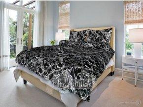 Bavlněné ložní povlečení - Zuzana černá