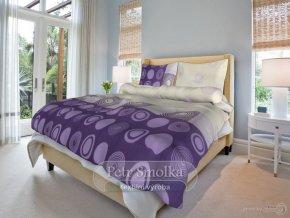Bavlněné ložní povlečení - Silva lila