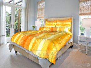 Bavlněné ložní povlečení - Kola oranžová