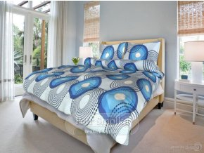 Bavlněné ložní povlečení - Lenka modrá
