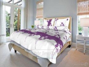 Bavlněné ložní povlečení - Květinka fialová