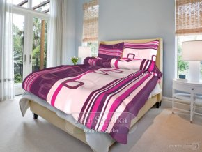 Bavlněné ložní povlečení - Tonda fialový