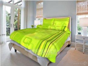 Krepové ložní povlečení - Tonda zelený
