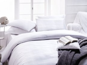 Sada francouzského povlečení - Issimo Home Luxus HARRISON WHITE + DÁREK
