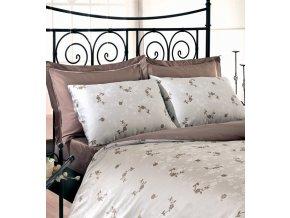 Sada francouzského povlečení - Damašek Issimo Home Luxus GARDENIA