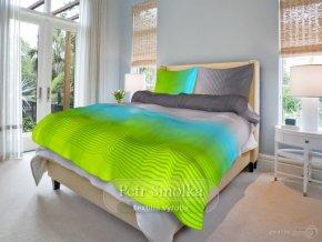 Bavlněné ložní povlečení - Radovan zelený