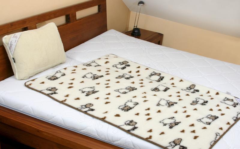 Kvalitex Vlněná dětská deka ovečka - evropské merino