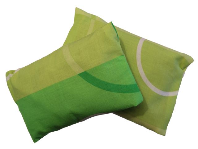 Povlečení Damašek Hřejivý polštářek s ovsem a tymiánem Barva: Bavlna - zelená variace