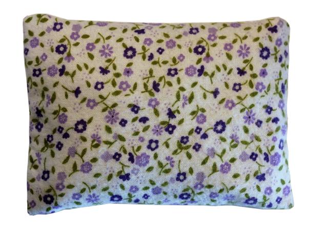 Povlečení Damašek Hřejivý polštářek s ovsem Barva: Flanel - fialová kytička