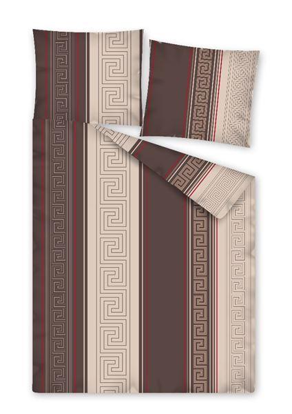 Smolka Flanelové ložní povlečení - Lubor hnědý Rozměr povlečení: 35 x 45, Popis: Povlak na polštář