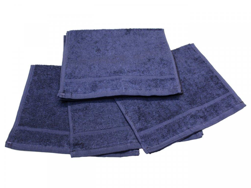 Dětský ručník pro mateřské školy 30x50 cm Tmavě modrý