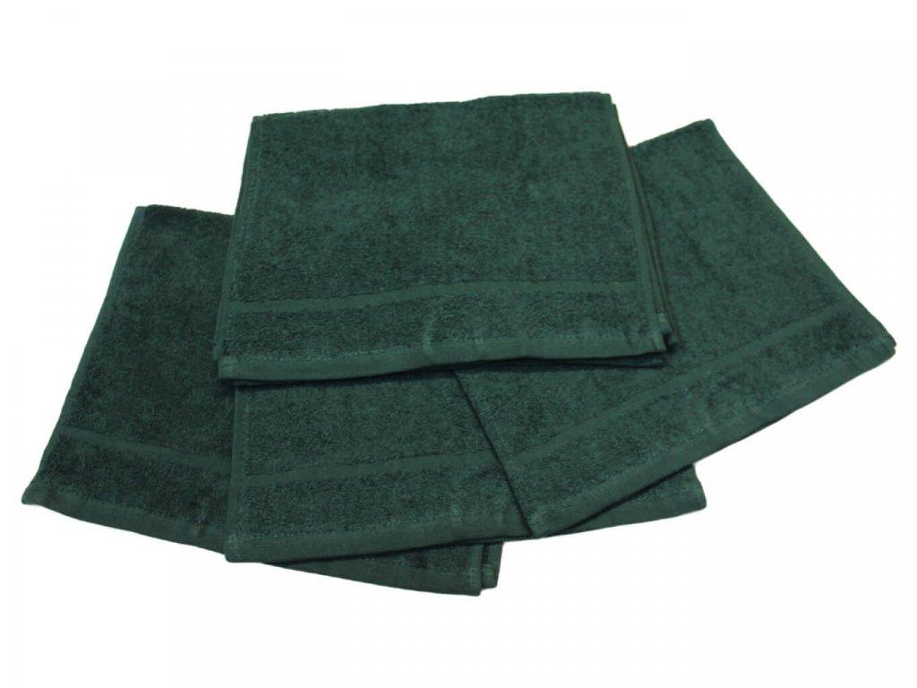 Dětský ručník pro mateřské školy 30x50 cm Tmavě zelený