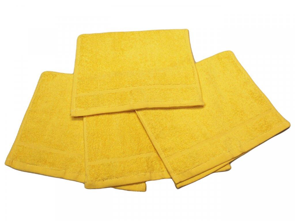 Dětský ručník pro mateřské školy 30x50 cm žlutý 1