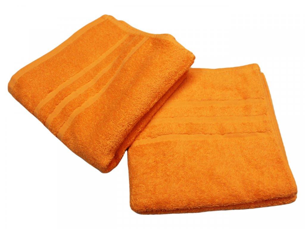 Ručník pro paní učitelky 50x100 cm oranžový 1