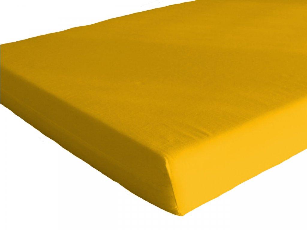 Bavlněné prostěradlo do školky Žlutá s gumou